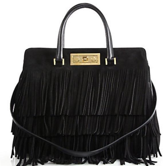 Saint Laurent Handbags - Saint Laurent Trois Clous Medium Fringe Tote